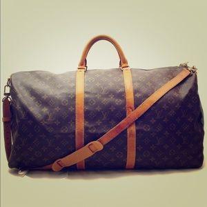 Authentic ❤️Louis Vuitton Keepall 60 W/Strap